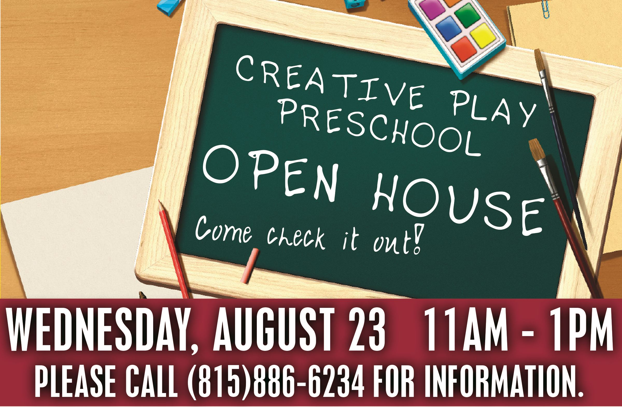 creative play open house