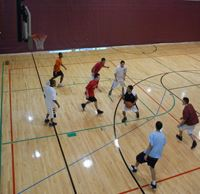 Children Playing Basketball at Open Gym